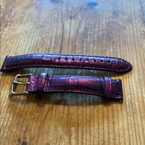 New Michele metallic purple watch band
